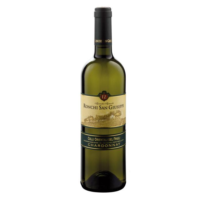 Flasche italienischer Weißwein, Chardonnay, Weinanbaugebiet Colli Orientali del Friuli, Delizia