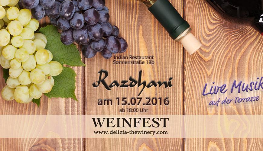 Delizia Sommerfest im Restaurant Razdhani